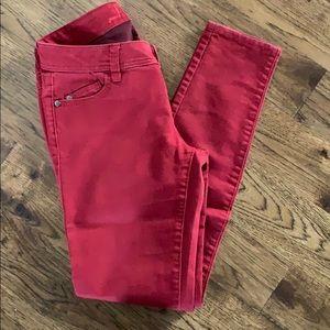 Red Elle skinny jeans